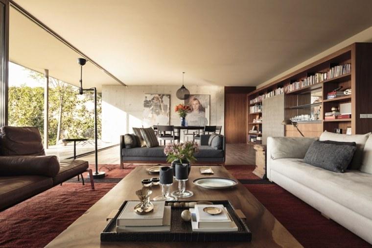 Diseño del interior de la sala de estar moderna