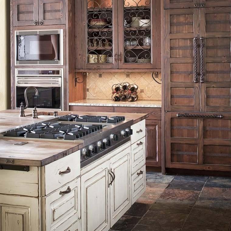 cocinas de madera lujosas