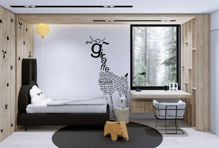 cama-bella-pared-estantes-madera-natural-estilo