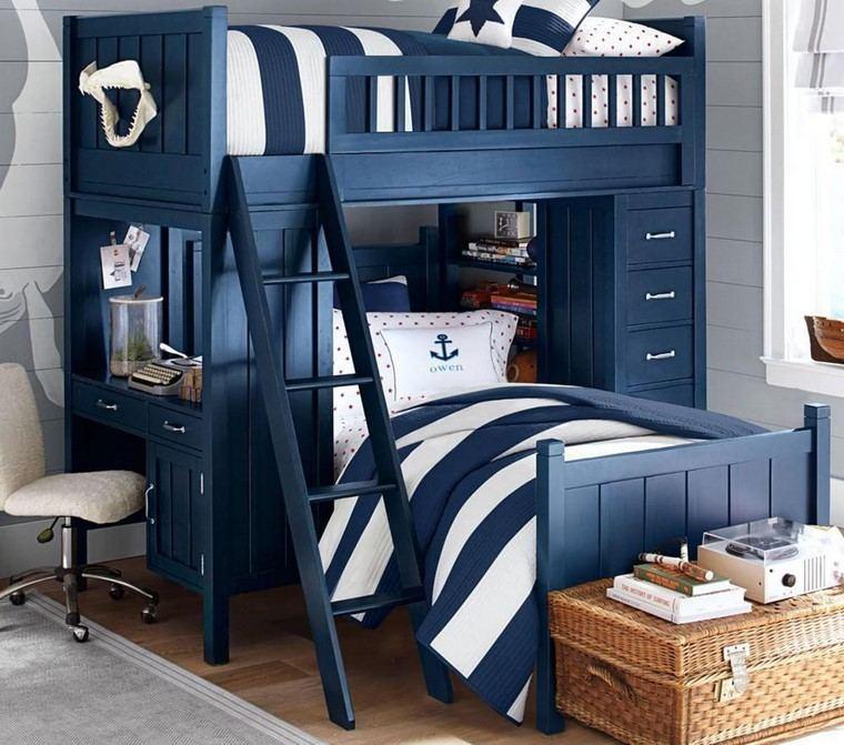 camas-dos-ninos-madera-estilo-moderno