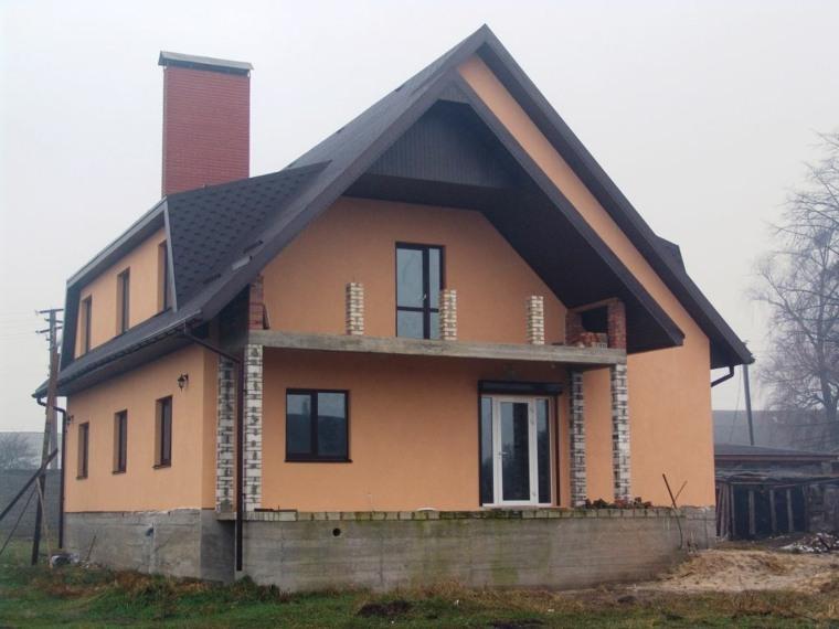 diseño de fachada de casa rural