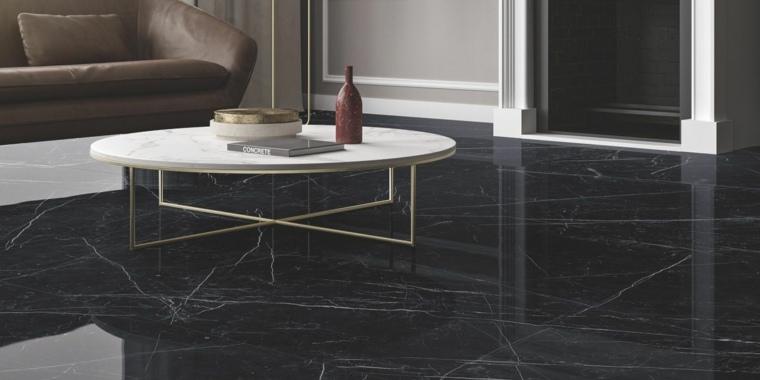 casas interiores-suelos-marmol-negro