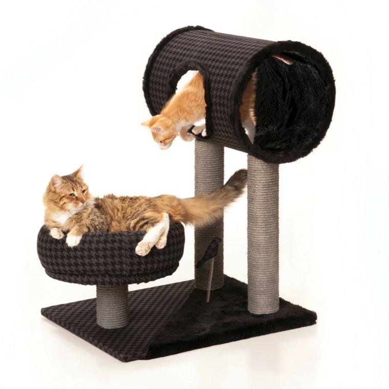 casas para gatos-interior