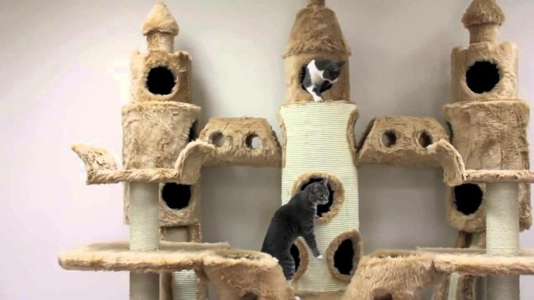 castillos para gatos-domesticos-rascadores