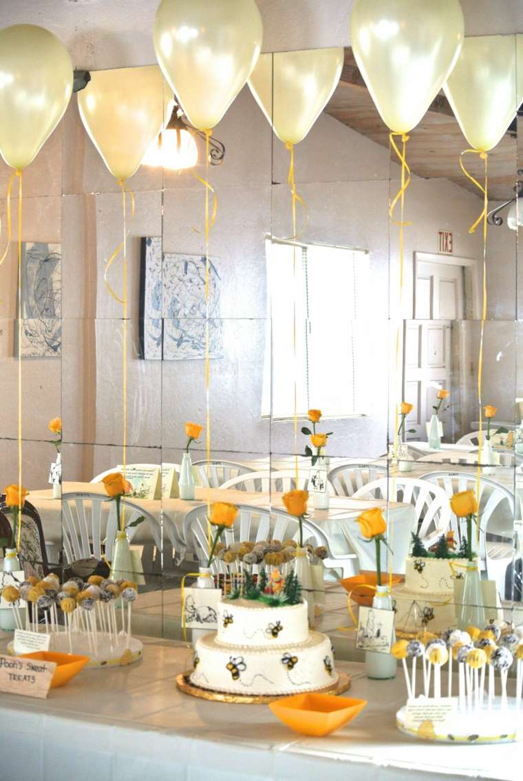 centros de mesa para baby shower-mesa-central-rosas-amarillas