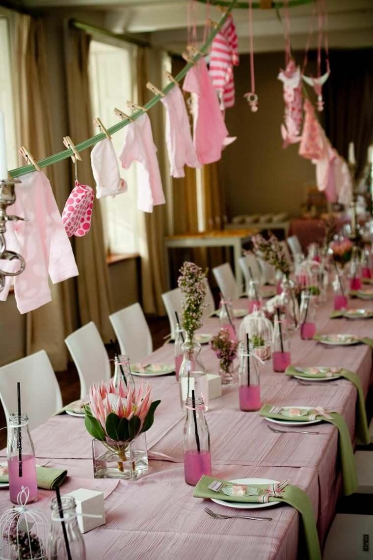 centros de mesa para baby shower opciones-flores-estilo-moderno