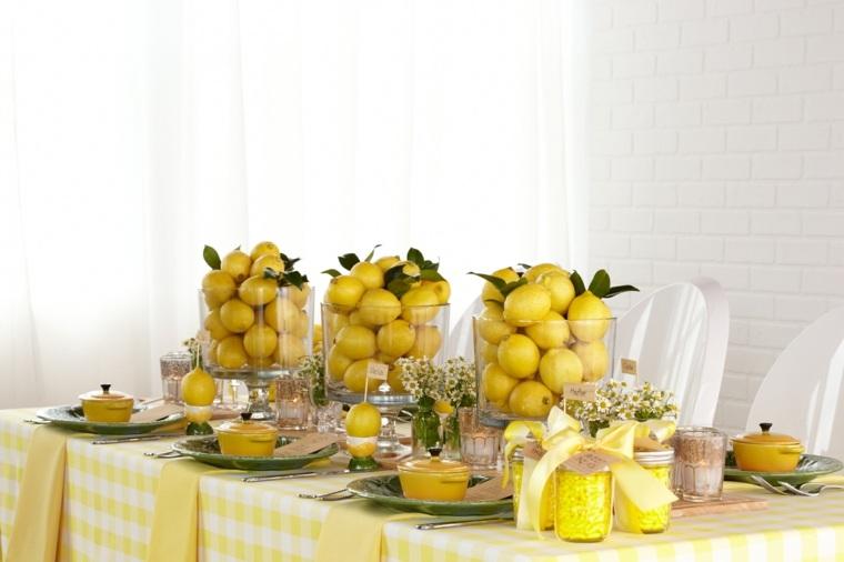 centros de mesa para baby shower-opciones-limones-ideas