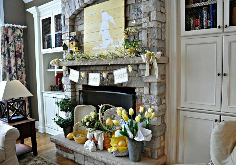 chimeneas modernas-elegantes-decoradas-flores