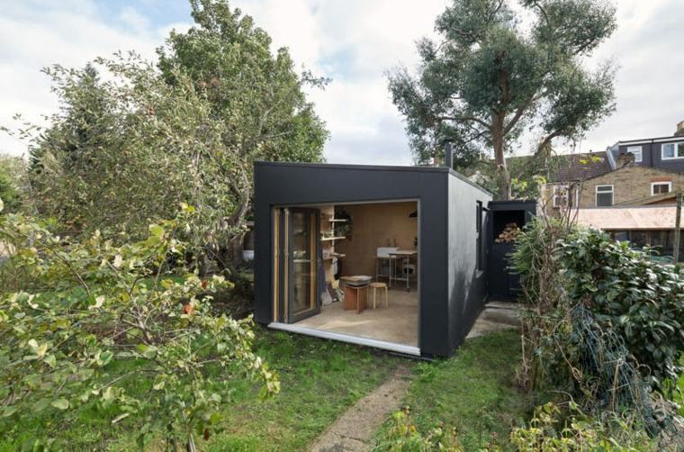 cobertizo-jardin-Grey-Griffiths-Architects-materiales-madera