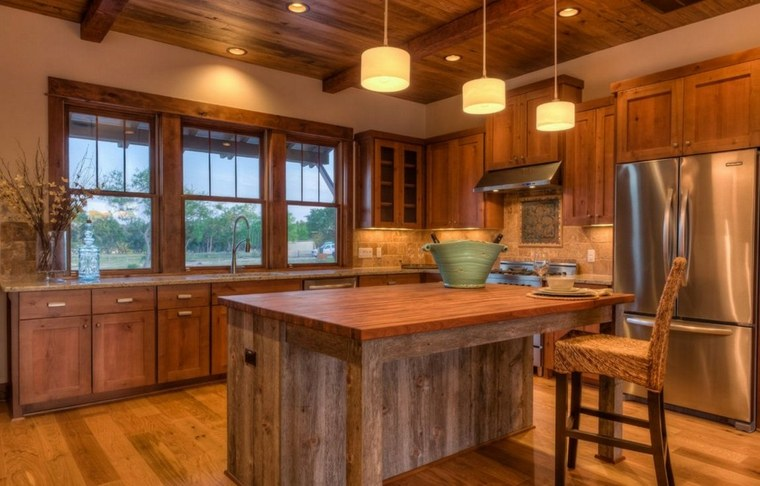cocinas de madera impresionantes
