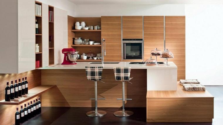 cocina integral-madera-decorar
