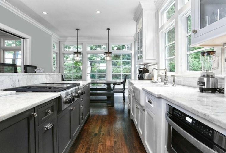 Cocinas alargadas - las últimas tendencias e ideas de decoración -