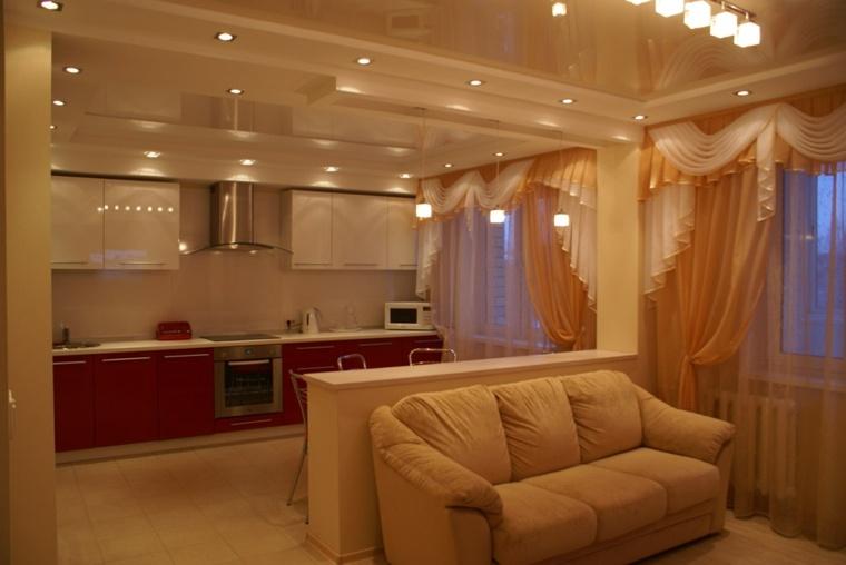 Cocinas abiertas al sal n ideas de dise o y decoraci n for Separacion cocina salon