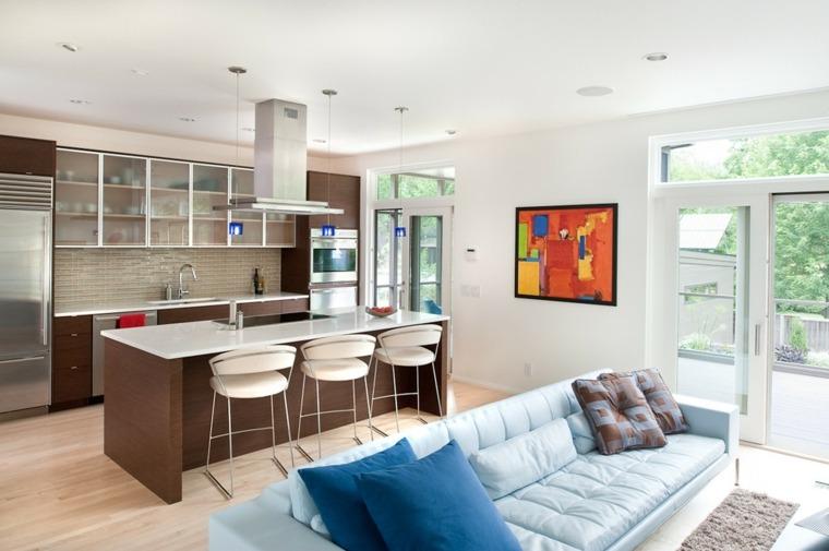 cocinas abiertas-ideas-de-diseño