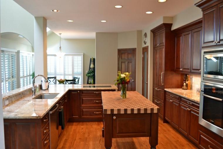 Cocinas de madera de abedul