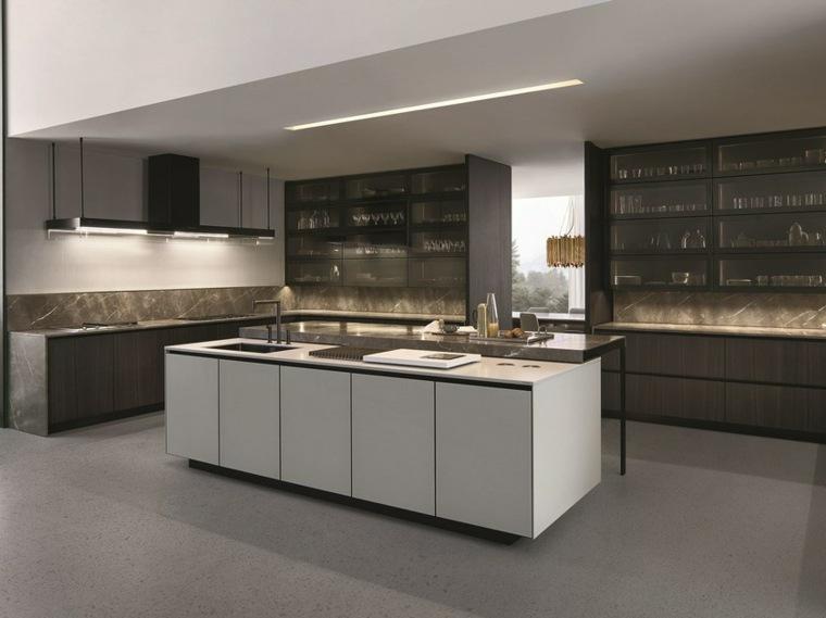 Cocinas integrales de madera unos interiores impresionantes for Cocinas integrales blancas modernas