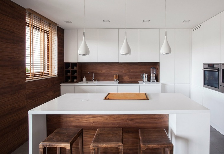 cocinas integrales modernas-madera