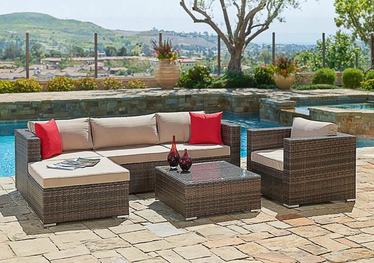 cojines de colores para decorar-exterior-terrazas