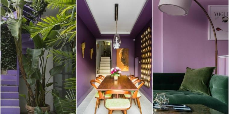 color violeta-decorar-interiores-casas