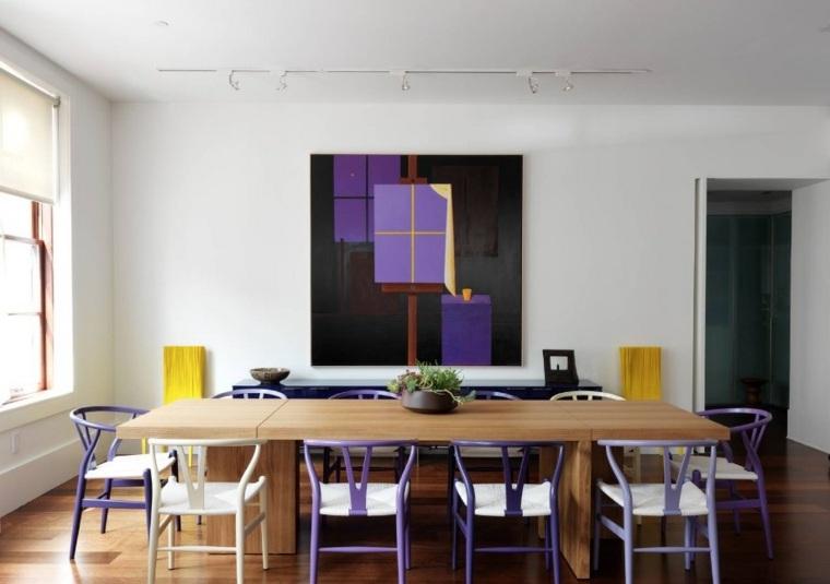 color violeta-ultravioleta-decorar-comedores