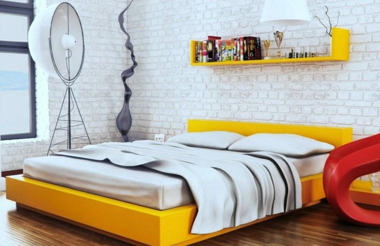 colores de dormitorios-acentos-amarillos
