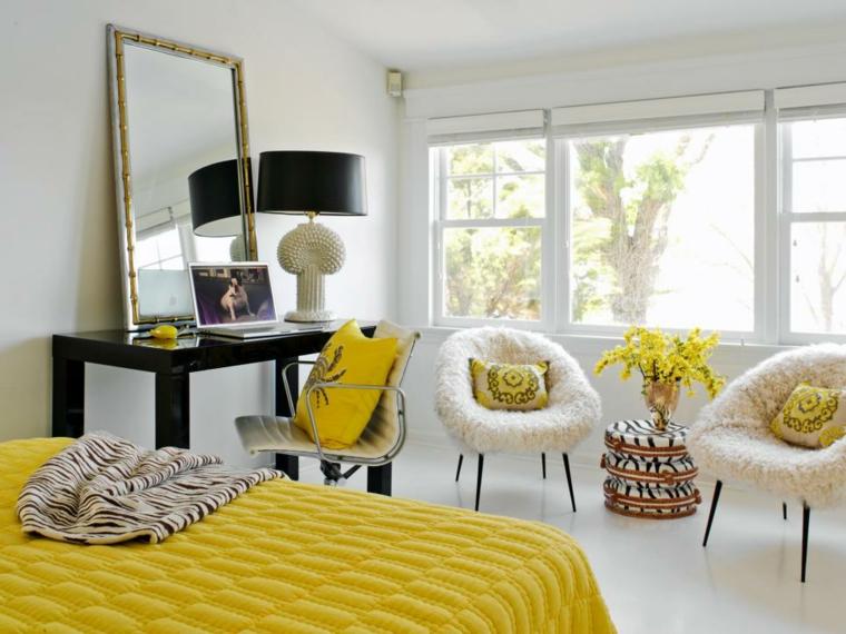 colores para habitaciones-acentos-amarillos