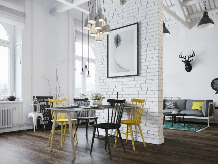 comedor-moderno-pared-separadora-ladrillo