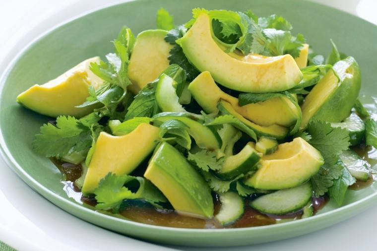 comida sana para el higado graso-aguacate