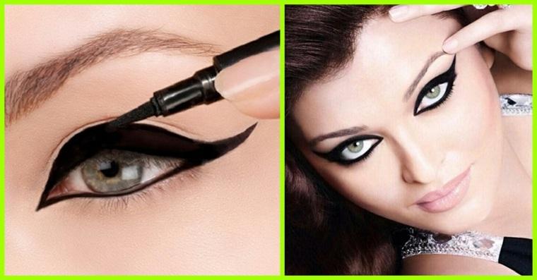 como aplicar eyeliner-negro-facil