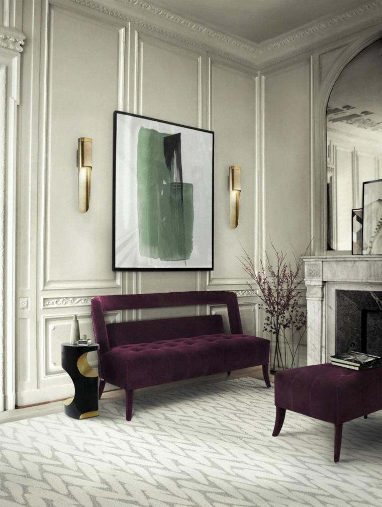 Una única pieza colorida de muebles puede acentuar y hacer girar toda la estética del espacio
