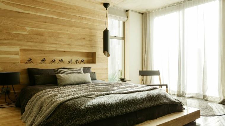 cortinas modernas para recamara-madera