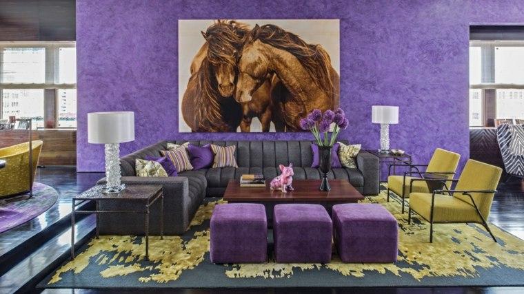 de color violeta-decorar-interiores