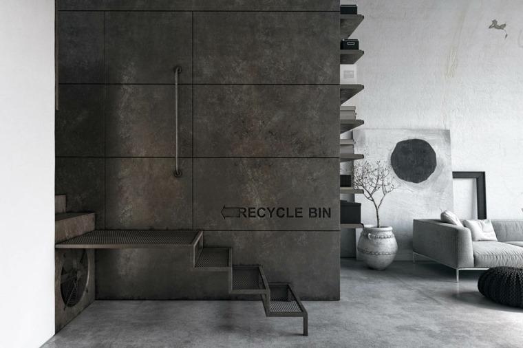 decoración de interiores industrial-moderna