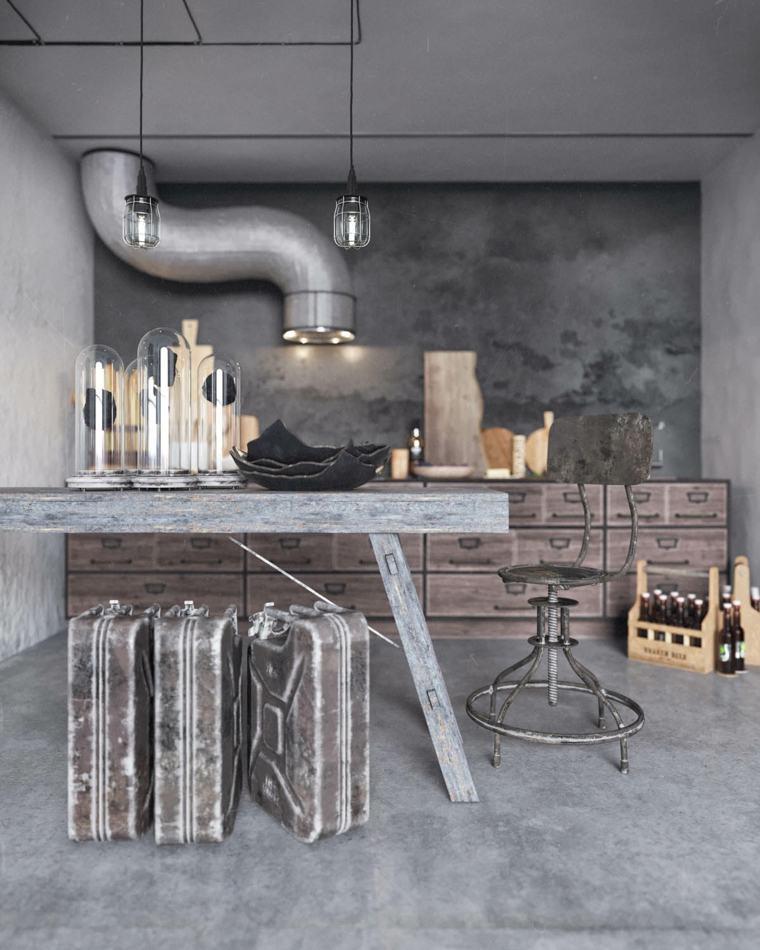 decoración de interiores industrial