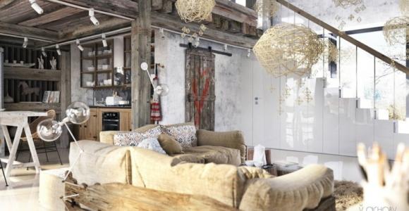 Decoración de interiores – dos ejemplos de mezcla de los estilos industrial y rústico
