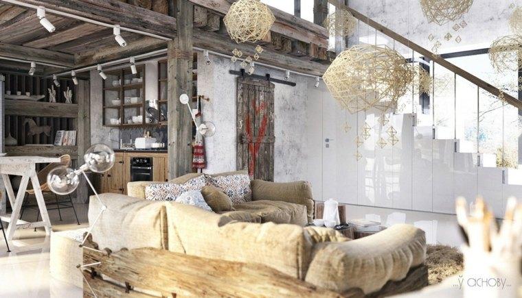 decoración de interiores rustica
