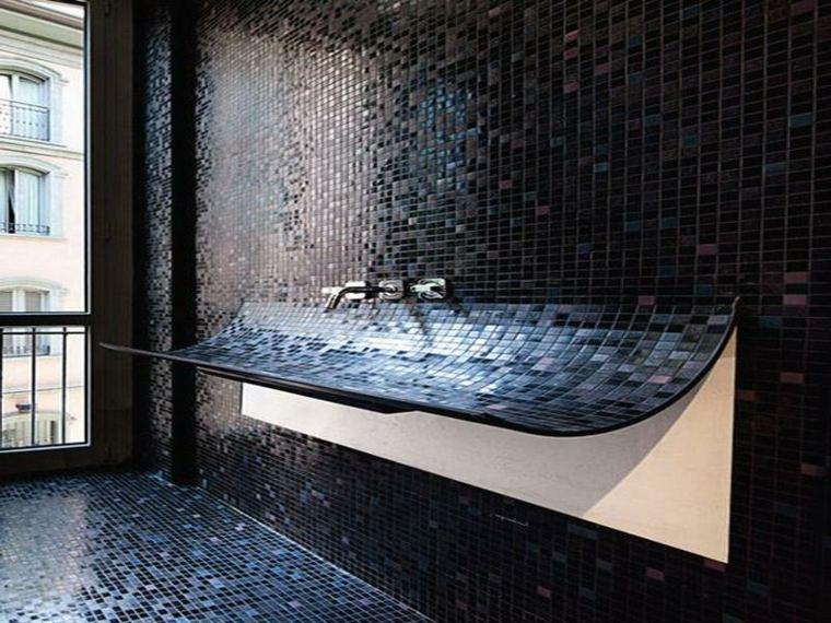 decoracion banos-negros-lavabo