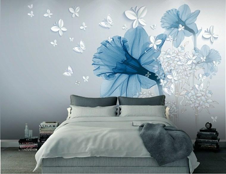 decoracion de cuartos-flores-paredes