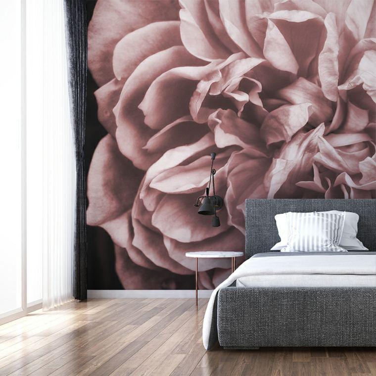 decoracion de dormitorios-flores-paredes