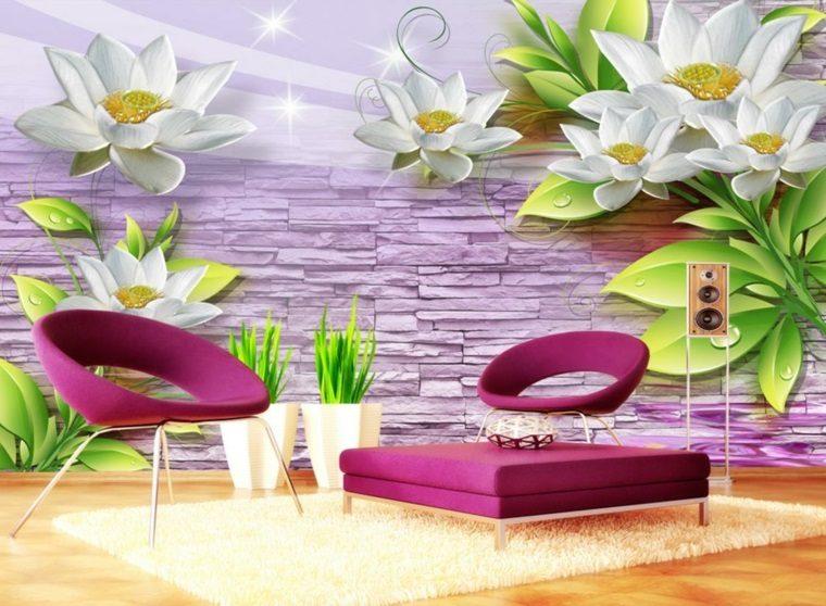 decoracion de dormitorios-flores