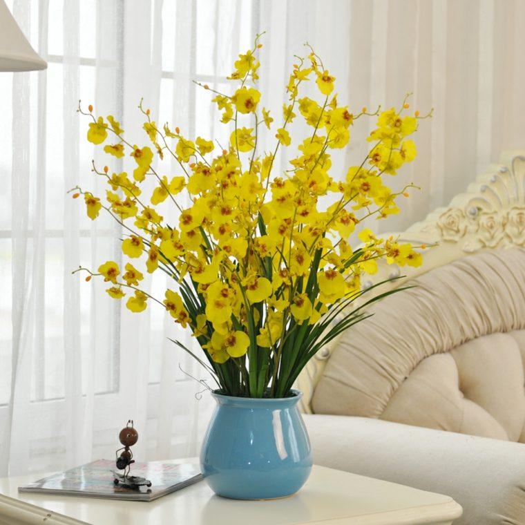 decoracion de habitaciones-flores-amarillas