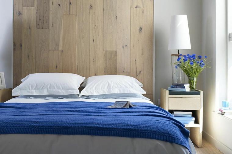 decoracion de habitaciones-flores-azules
