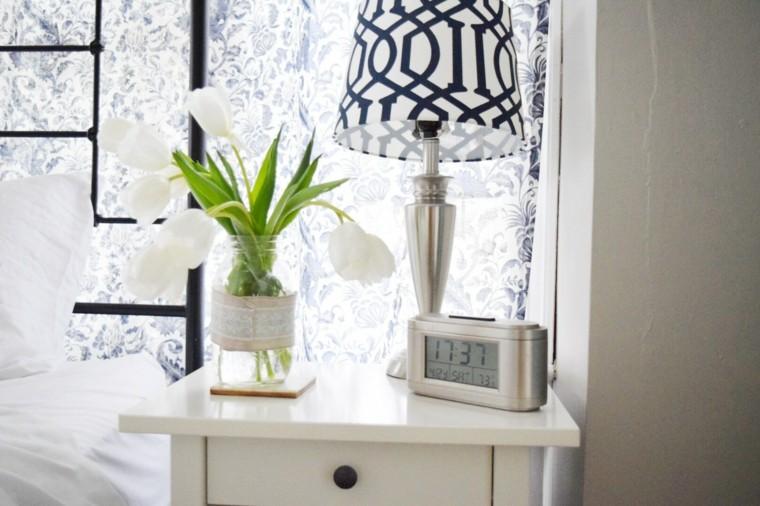 decoracion de habitaciones-flores-blancas