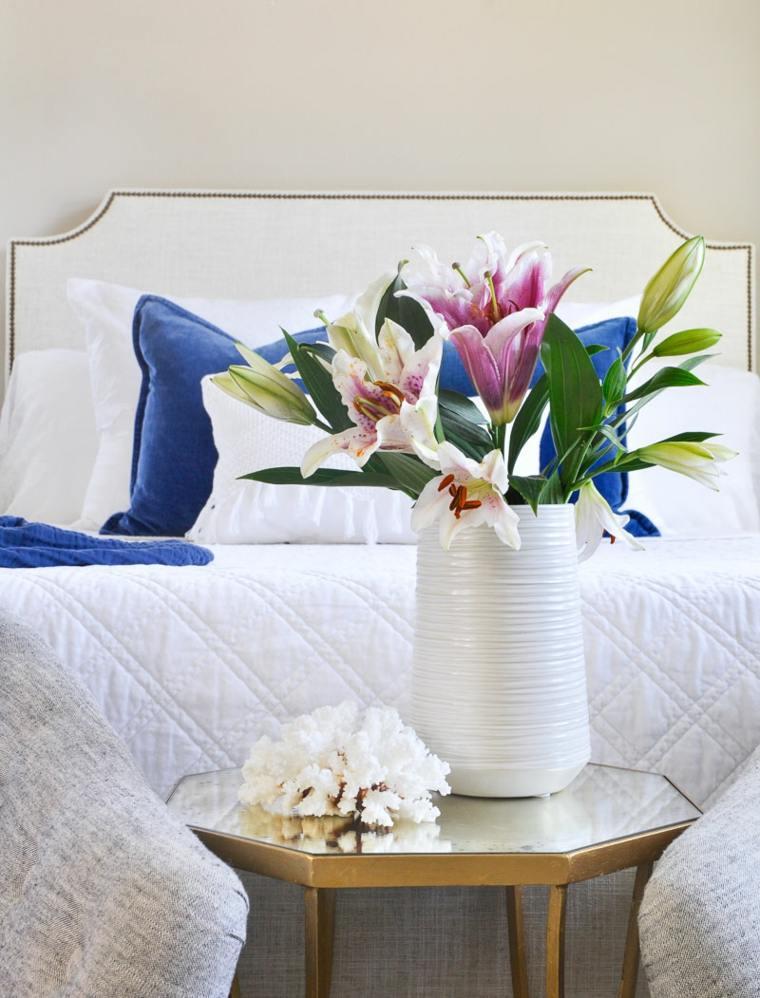 decoracion de habitaciones-flores-colores