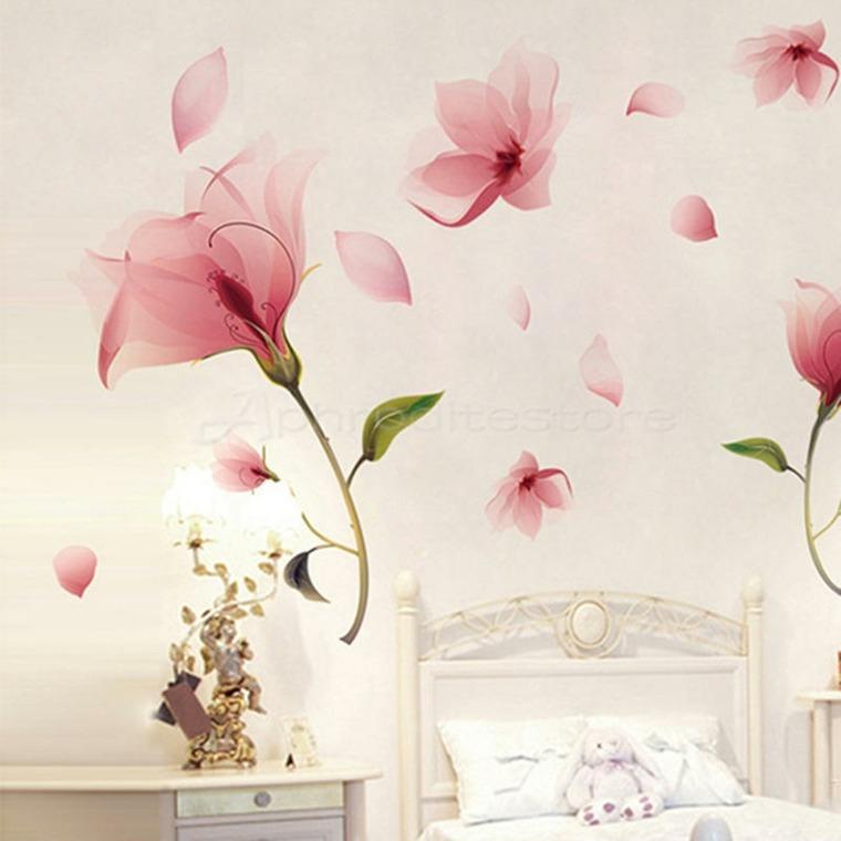 decoracion de habitaciones-flores-grandes