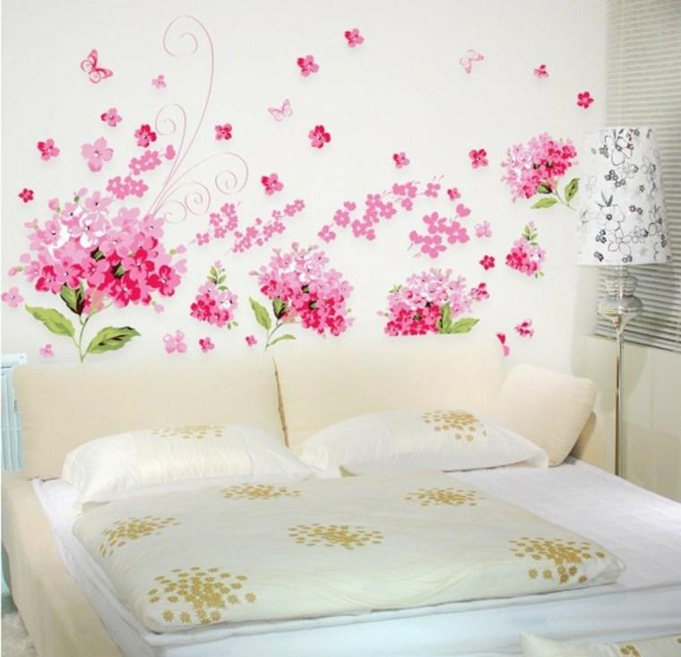decoracion de habitaciones-flores-rosas