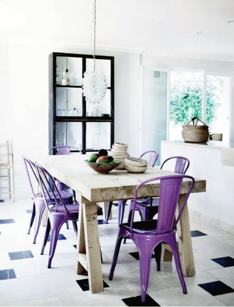 decoracion de interiores-cocinas-violeta