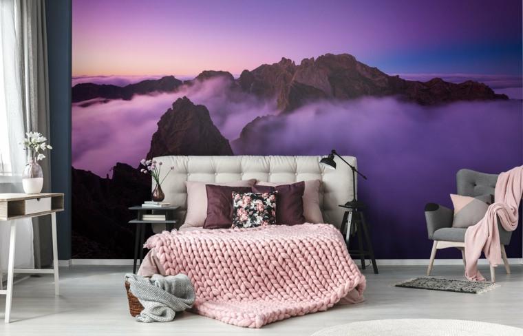 decoracion de interiores de casas-violeta-ultravioleta