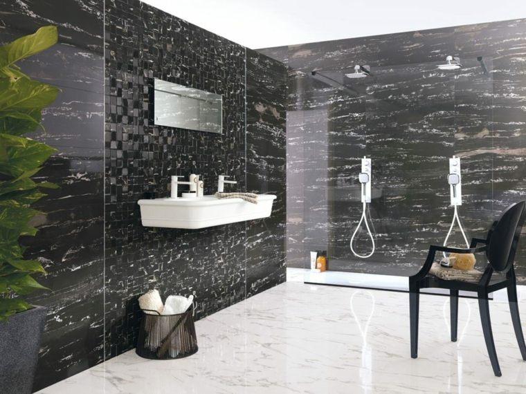 decoracion de interiores-marmol-negro