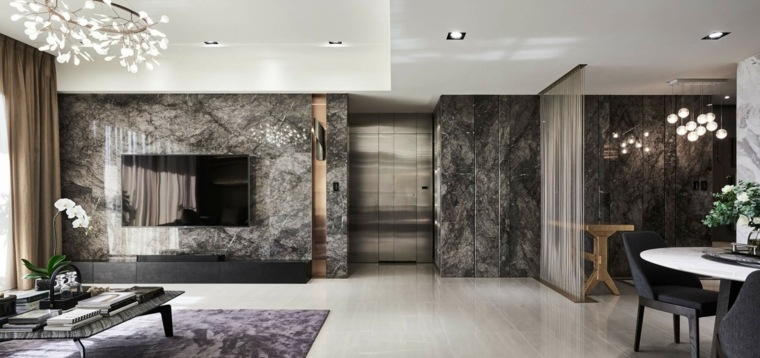 Decoracion De Interiores Con M 225 Rmol Negro Combinaciones
